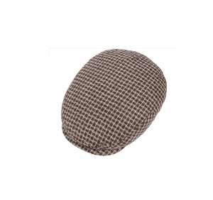 Houndstooth linen cap by Stetson