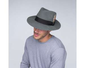Fedora Graphite Teal, filc wełniany, Bailey of Hollywood
