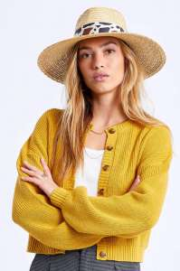Joanna Honey Cattle,  Wide Brim Natural Straw Hat by Brixton