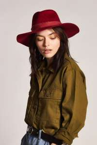 Ella Fedora Cardinal, Wide Brim Hat for Women by Brixton
