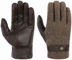Stetson gloves goat nappa wool brown