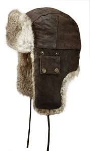 Bomber cap, pigskin and rabbit, warm aviator by Stetson