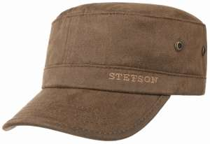 Cotton Army cap by Stetson, brown
