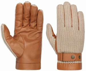Sheepskin gloves, Nappa and Knit, by Stetson
