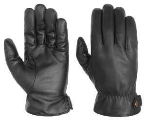 Black leather gloves by Stetson