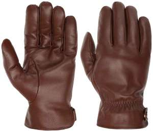 Braun leather gloves by Stetson