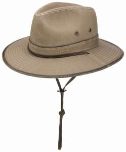 Traveller Cotton by Stetson, beige with chinstrap