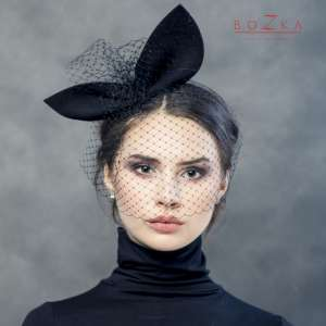 Black headband with ears and netting