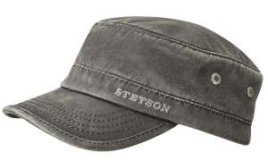 Cotton Army cap by Stetson, Grey mix
